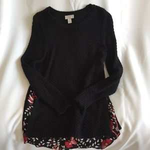 Loft Outlet Black Sweater Size Small